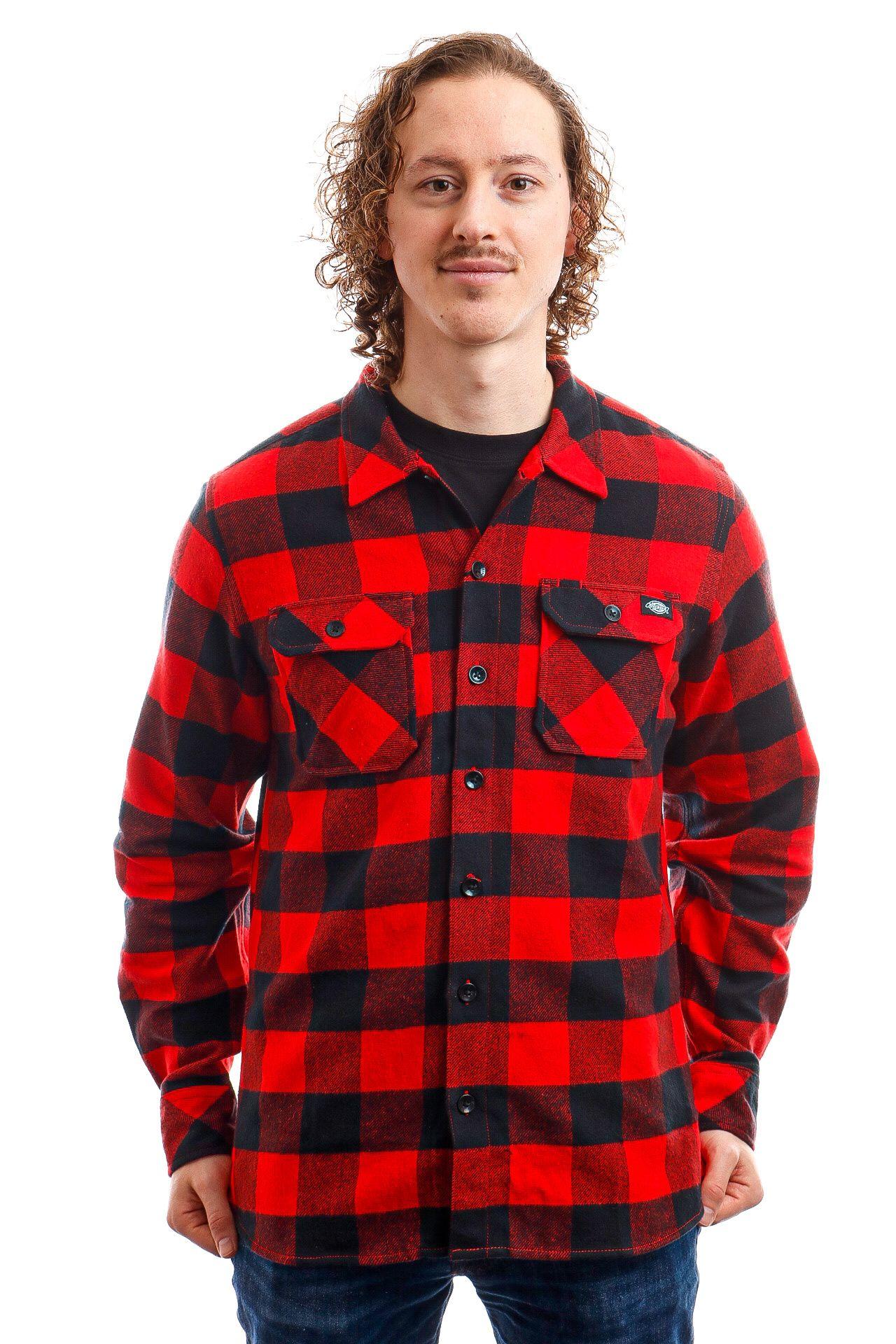 Afbeelding van Dickies Overhemd Sacramento Shirt Red DK0A4X8NRDX1