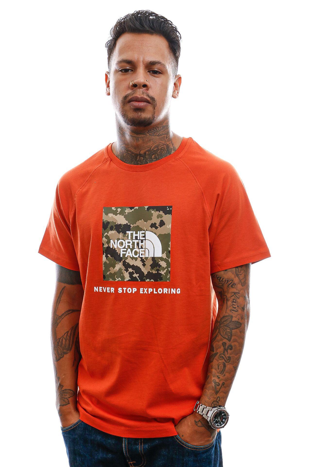 Afbeelding van T-Shirt Men's S/S Raglan Redbox Tee Brtoc/Brtolg NF0A3BQOVU41