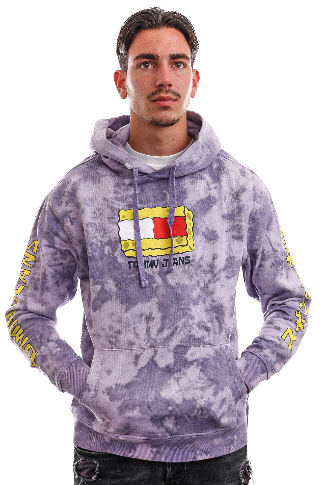 Afbeelding van Tommy Jeans Hoodie TJU X SPONGEBOB Tie Dye / Purple Quartz DM0DM12200