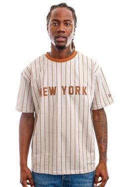 Afbeelding van New Era Tops New Era Oversized NY Pinestripe Tee STNTOF 12720112