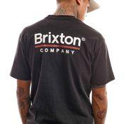 Brixton T-shirt Palmer Line S/S STT Worn Wash Black 16423
