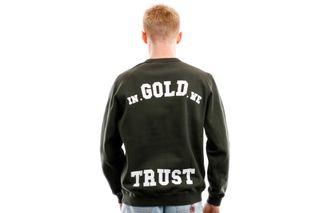Foto van In Gold We Trust Crewneck Crewneck Verwassen Kombu green IGWTC-002