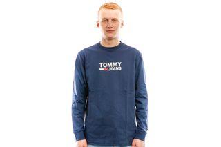 Foto van Tommy Hilfiger T Shirt Tjm Tommy Classics Black Iris DM0DM05394002