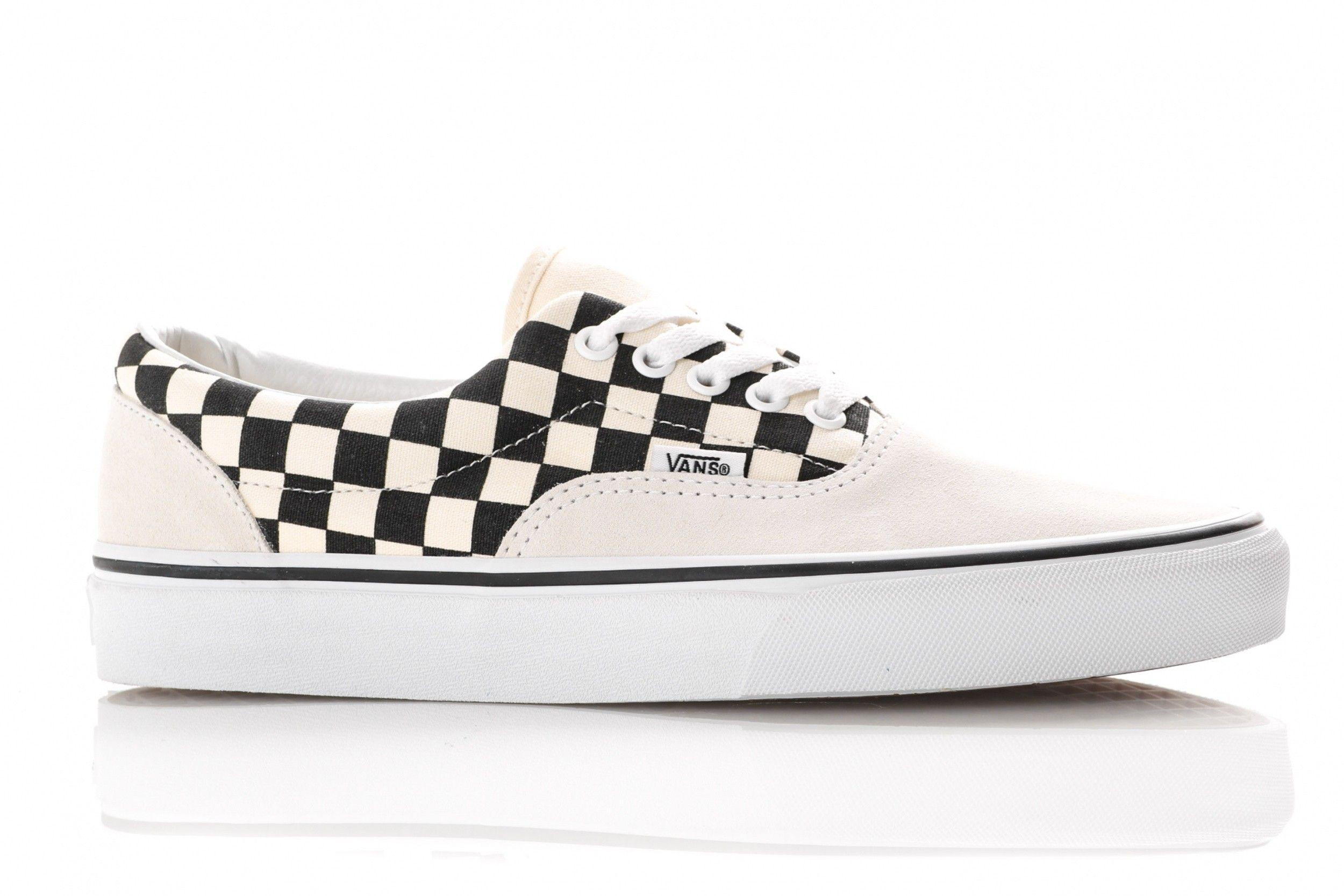Afbeelding van Vans Ua Era Vn0A38Frten Sneakers (Primary Check) Marshmallow/Black