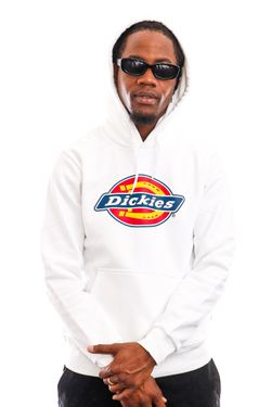 Afbeelding van Dickies Hoodie Icon Logo Hoodie White DK0A4XCBWHX1