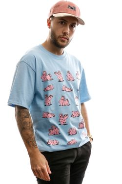 Afbeelding van HUF T-shirt Makin Bacon S/S Tee Greek Blu TS01010-GKBLU