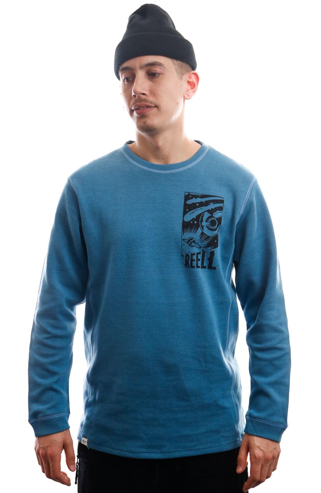 Afbeelding van Reell Jeans Longsleeve Space Longsleeve Blue Melange 1303-005