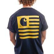Carhartt T-Shirt S/S State T-Shirt Dark Navy / Colza I028434