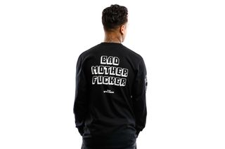 Foto van HUF Longsleeve Bad Mother Fucker L/S Tee Black TS01309