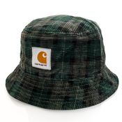 Carhartt Bucket Hat Cord Hat Breck Check Print / Grove I028162