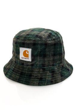 Afbeelding van Carhartt Bucket Hat Cord Hat Breck Check Print / Grove I028162