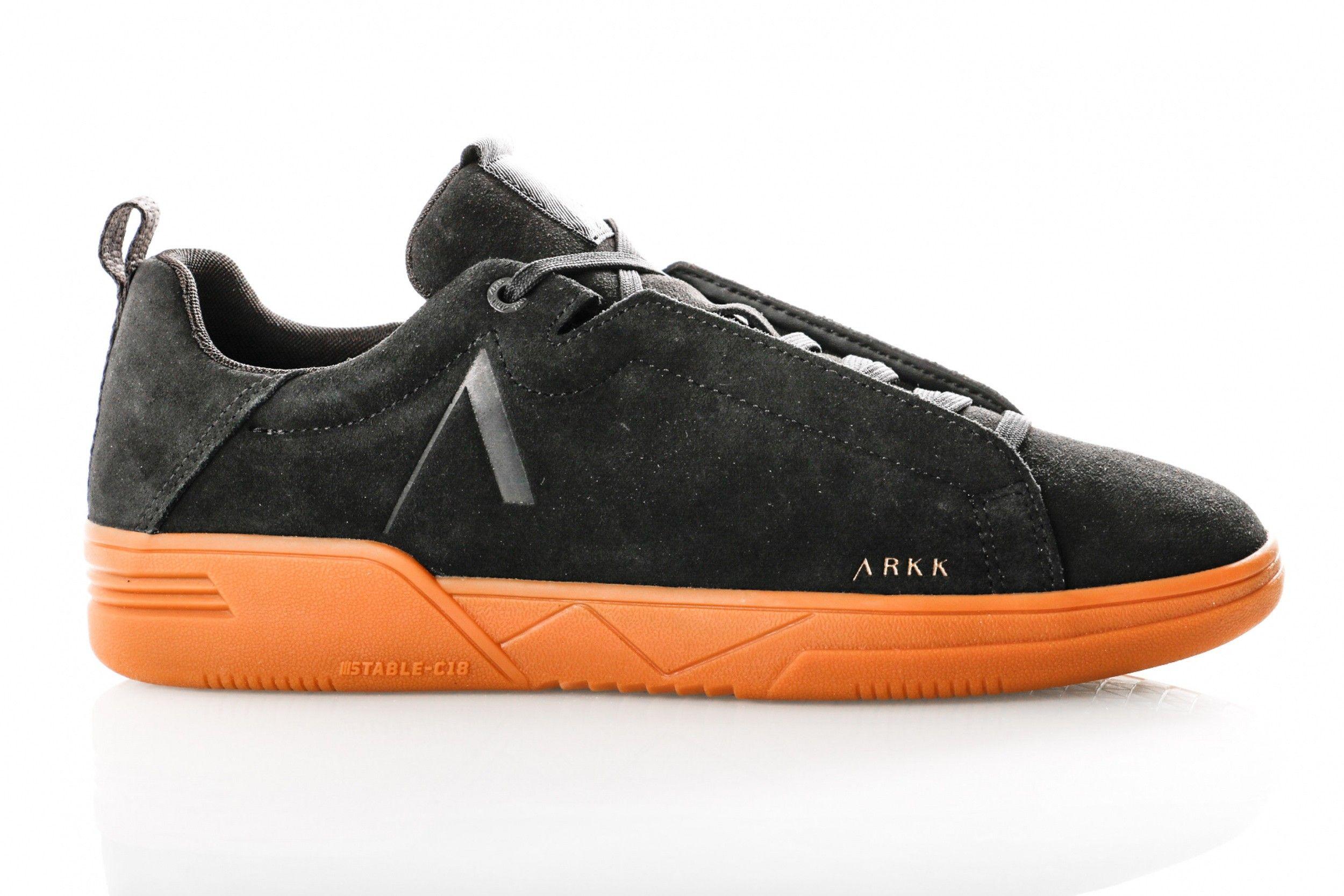 Afbeelding van Arkk Uniklass Suede S-C18 4602-0099 Sneakers Black Gum