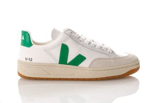 Foto van Veja V-12 Xd010296 Sneakers White / Emeraude