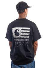 Carhartt T-shirt S/S University Script Dark Navy / White I028991