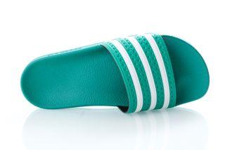 Foto van Adidas Slipper Adilette glory green/ftwr white/glory green EF5431