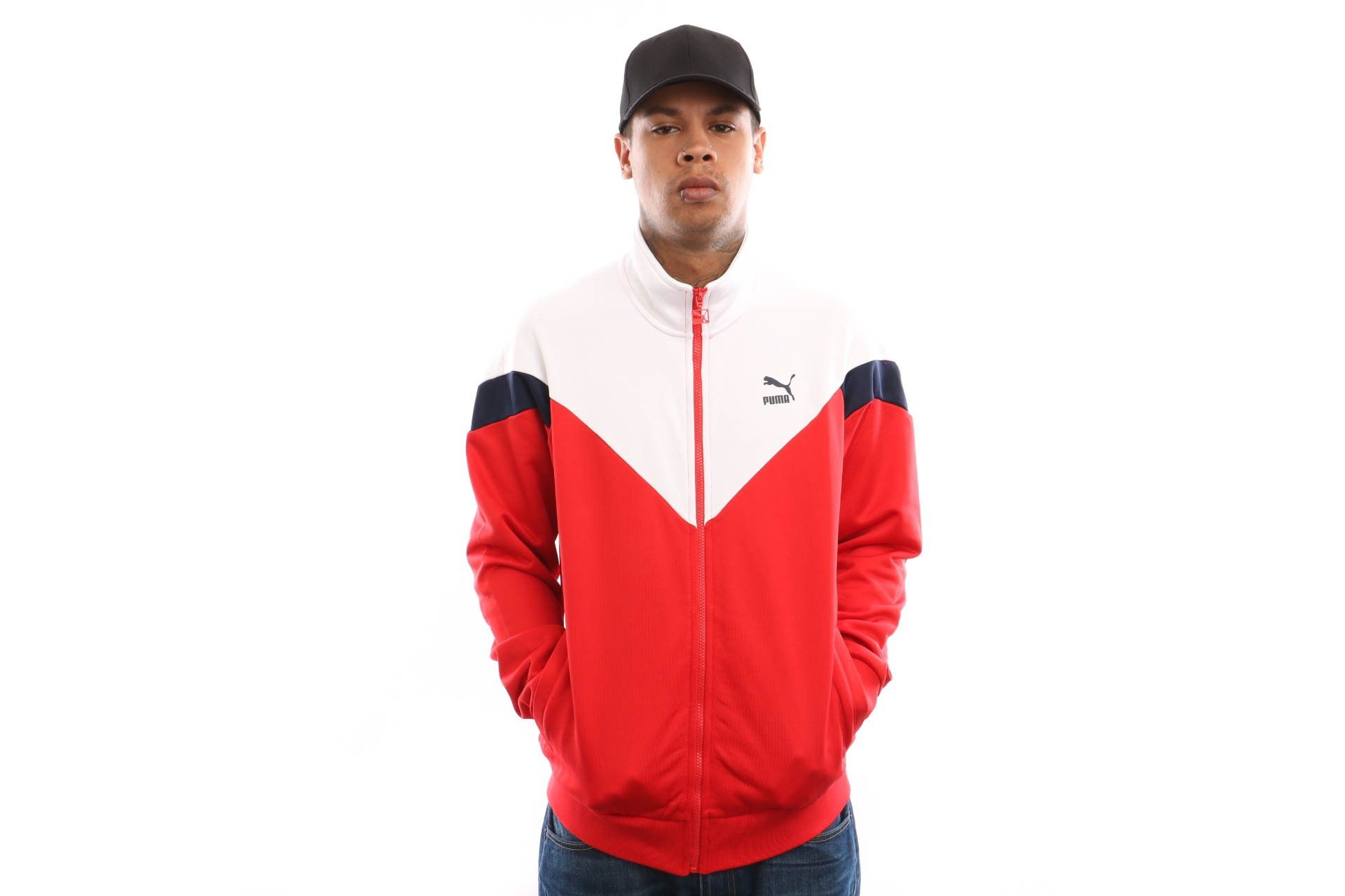 Afbeelding van Puma Iconic Mcs Track Jacket 577980 Track Jacket High Risk Red