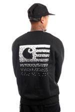Carhartt Crewneck Fade State Sweat Black / White I029528