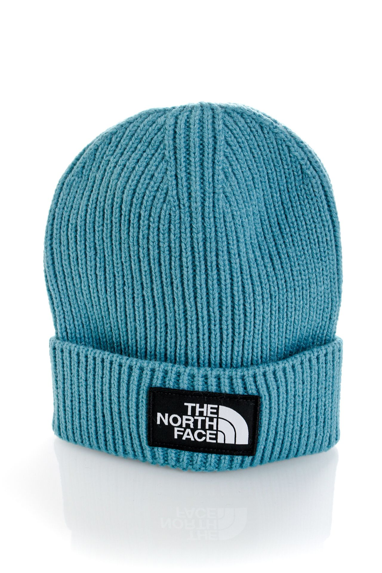 Afbeelding van The North Face Muts TNF LOGO BOX CUFFED REG STORM BLUE NF0A3FJX4Y31