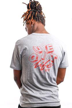 Afbeelding van Quiet Life T-shirt QUIET LIFE GRID S/S PREMIUM Heather Grey QL-19SPD1-1159