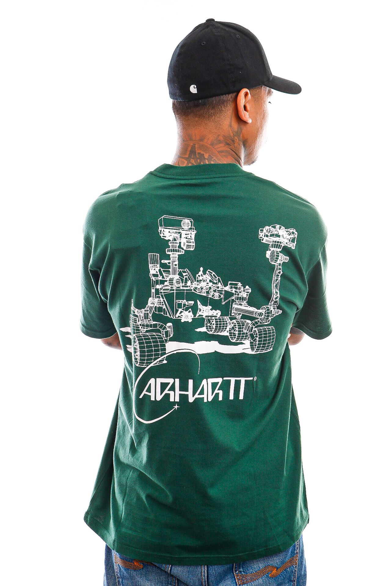 Afbeelding van Carhartt T-shirt S/S Orbit T-Shirt Treehouse / White I029928
