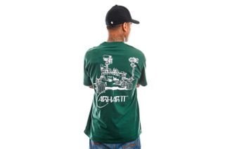 Foto van Carhartt T-shirt S/S Orbit T-Shirt Treehouse / White I029928