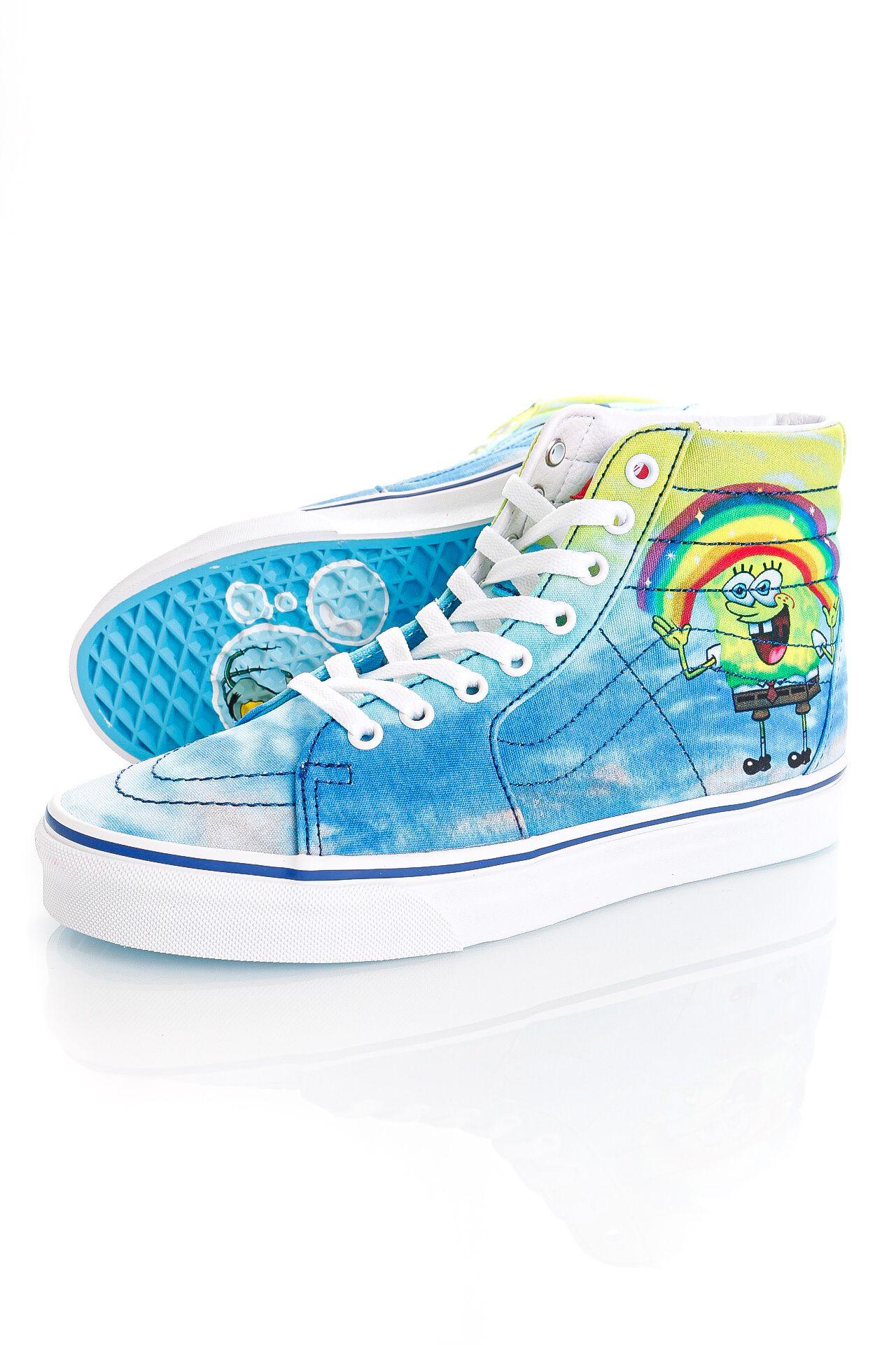 Afbeelding van Vans Sneakers UA SK8-Hi (SpongeBob) Imagination Blue VN0A32QGZAW1