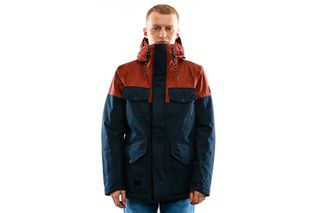 Foto van Reell Jacket Field Jacket 2 Navy / Red Brown 1306-048