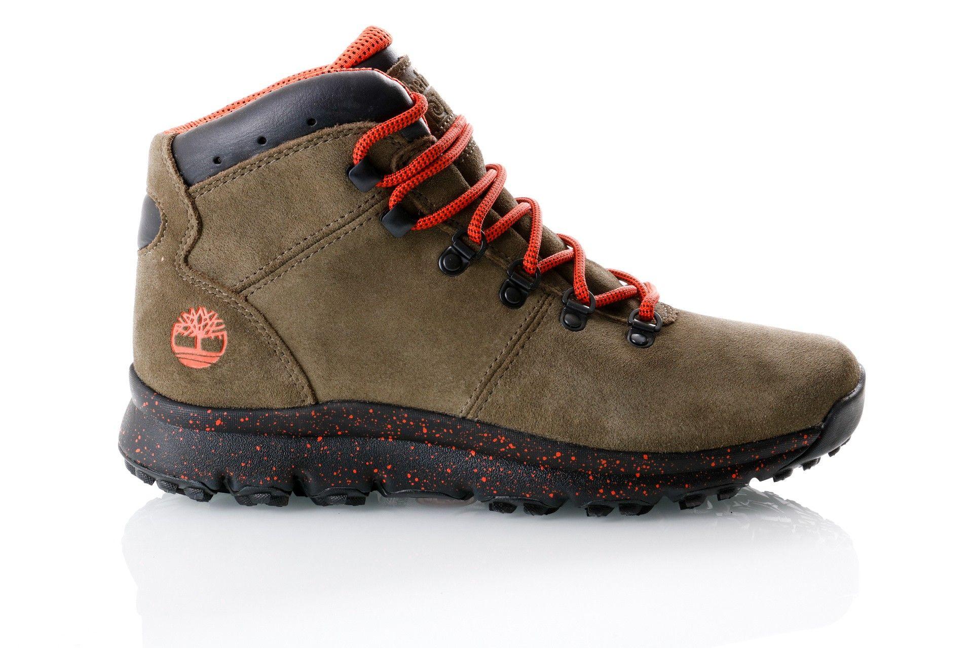 Afbeelding van Timberland Dark Green Suede Tb0A216Ka581 Sneakers World Hiker Mid