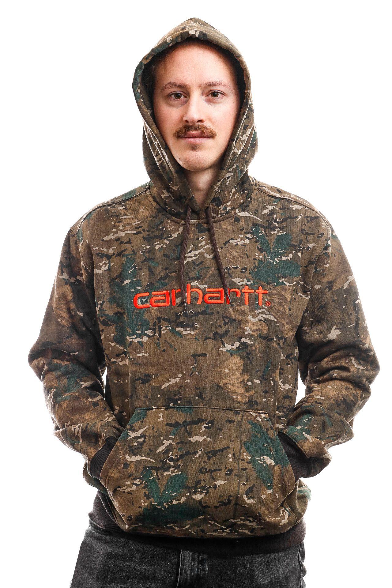 Afbeelding van Carhartt Hooded Hooded Carhartt Sweat Camo Combi / Safety Orange I027093