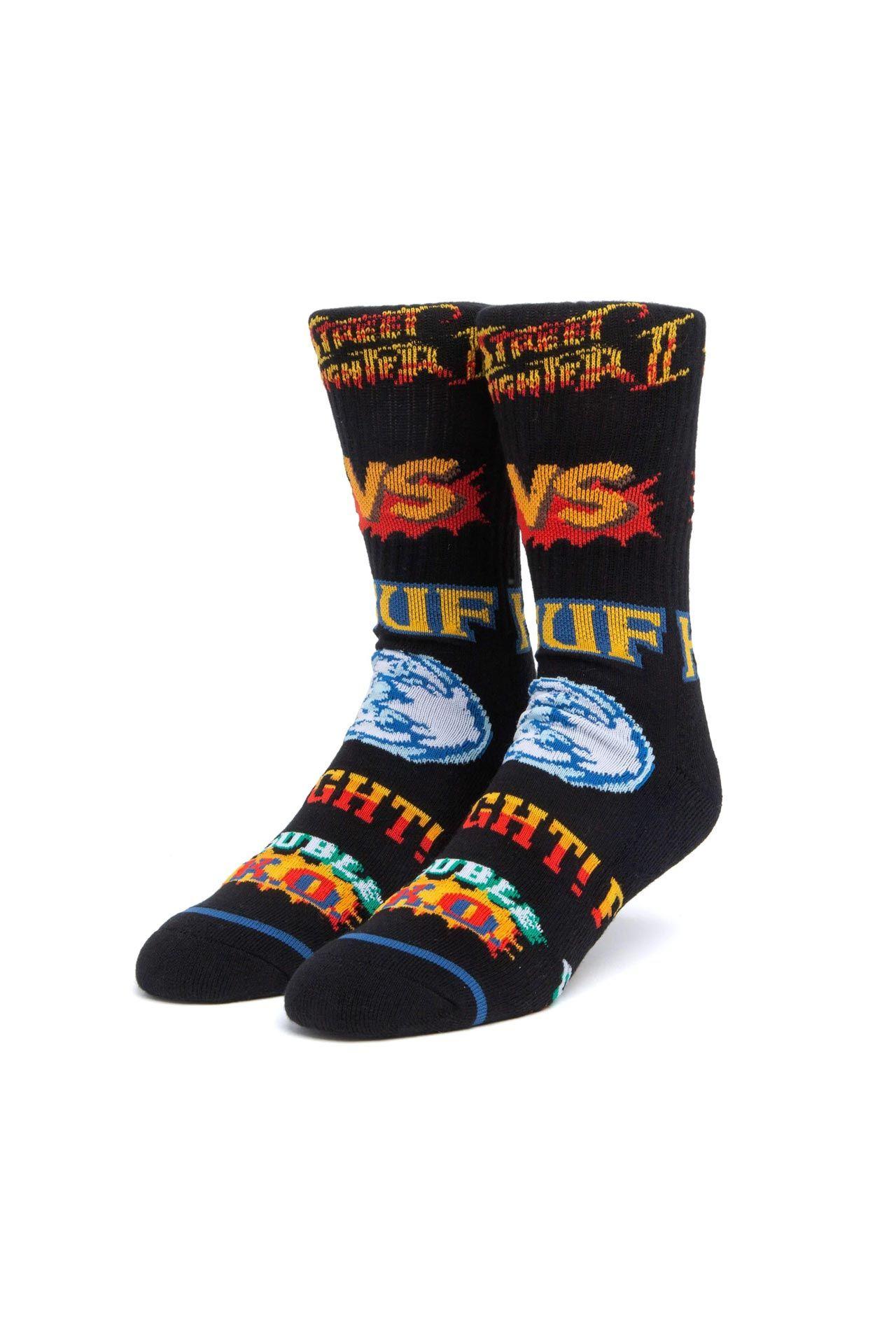 Afbeelding van HUF Sokken Street Fighter Graphic Sock Black SK00636