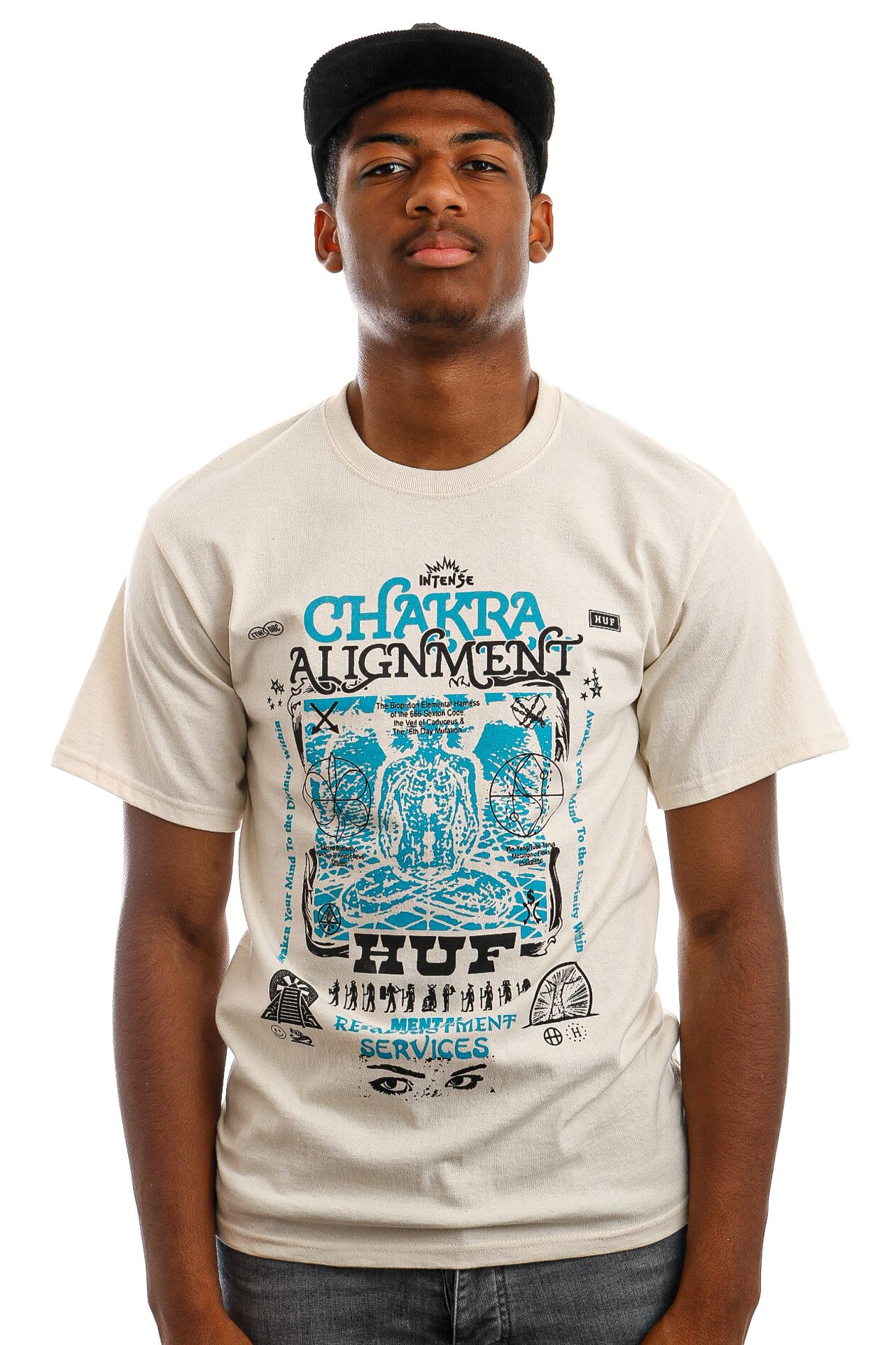 Afbeelding van HUF T-Shirt HUF CHAKRA ALIGNMENT S/S Naturel TS01501