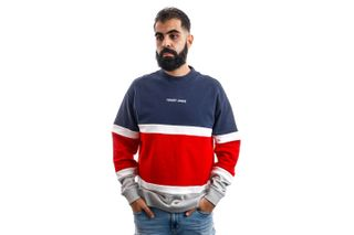 Foto van Tommy Hilfiger Crewneck TJM RETRO COLORBLOCK, C87 Twilight Navy / Multi DM0DM08404