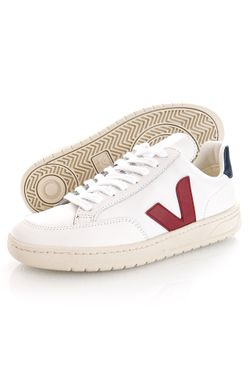 Afbeelding van Veja Sneakers V-12 LEATHER EXTRA-WHITE MARSALA XD0201955B