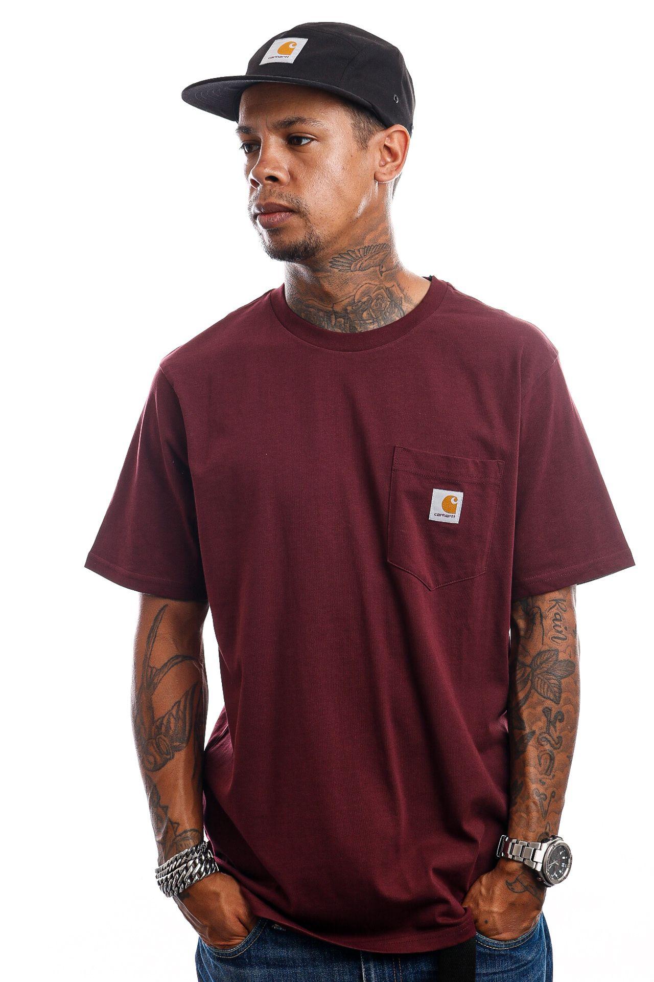 Afbeelding van Carhartt T-Shirt S/S Pocket Wine I022091