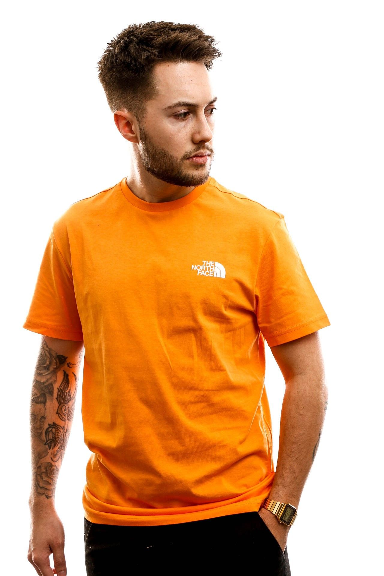 Afbeelding van The North Face T shirt M S/S Simple Dome Te Flame Orange NF0A2TX5ECL
