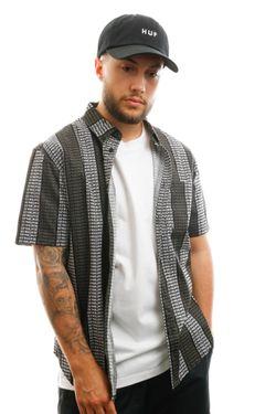 Afbeelding van HUF T-shirt Alandale S/S Woven Shirt Black BU00072-BLACK