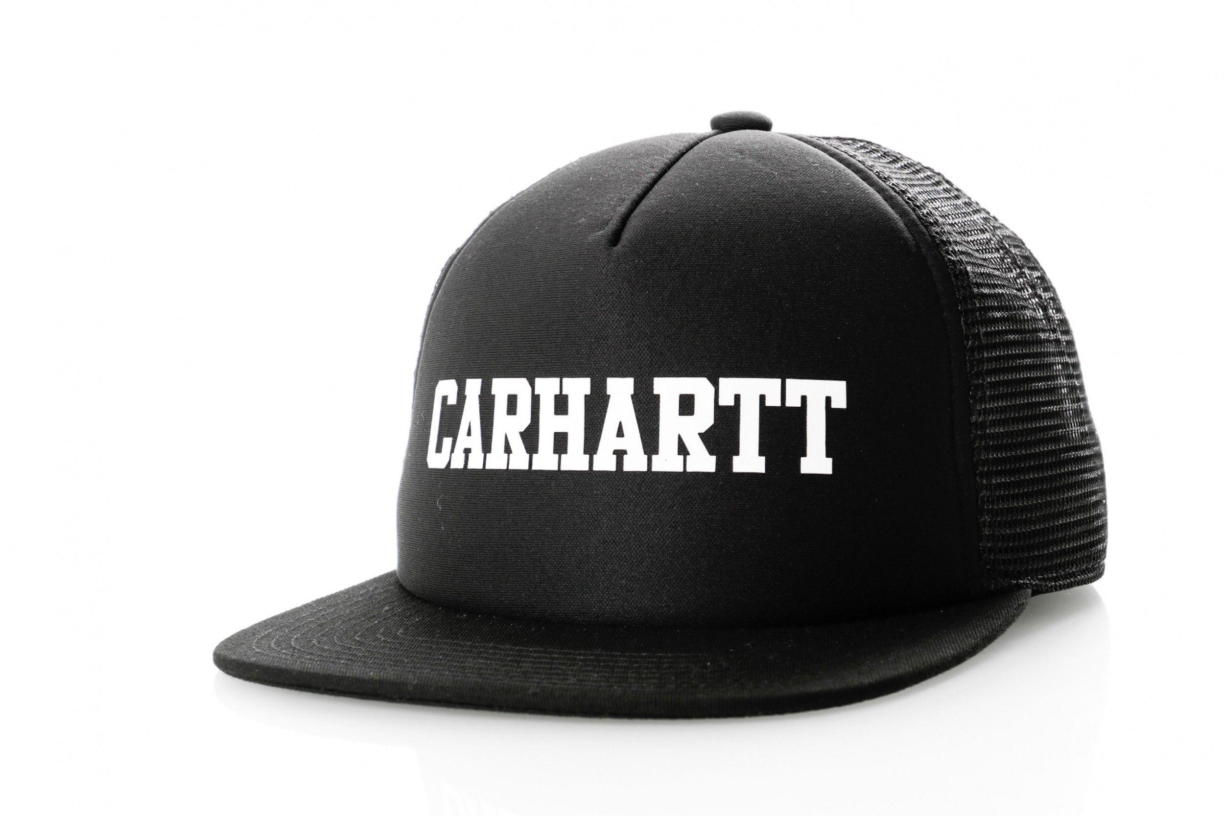 Afbeelding van Carhartt Wip College Trucker Cap I025652 Trucker Cap Black / White