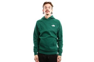 Foto van The North Face Raglan Red Box Hd T92Zwun3P Hooded Night Green