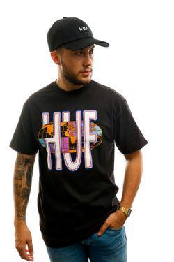 Afbeelding van HUF T-shirt Quake Usa S/S Tee Black TS01049-BLACK