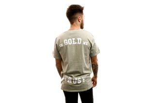 Foto van In Gold We Trust T-shirt The Pusha Olive green IGWTT-001-O