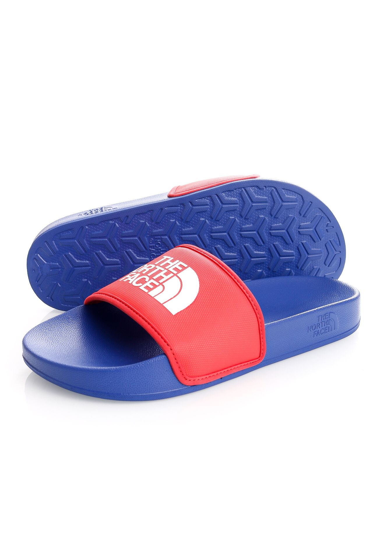 Afbeelding van The North Face Slippers Mens Base Camp Slide III TNF Blue/Horizon Red NF0A4T2RZ451