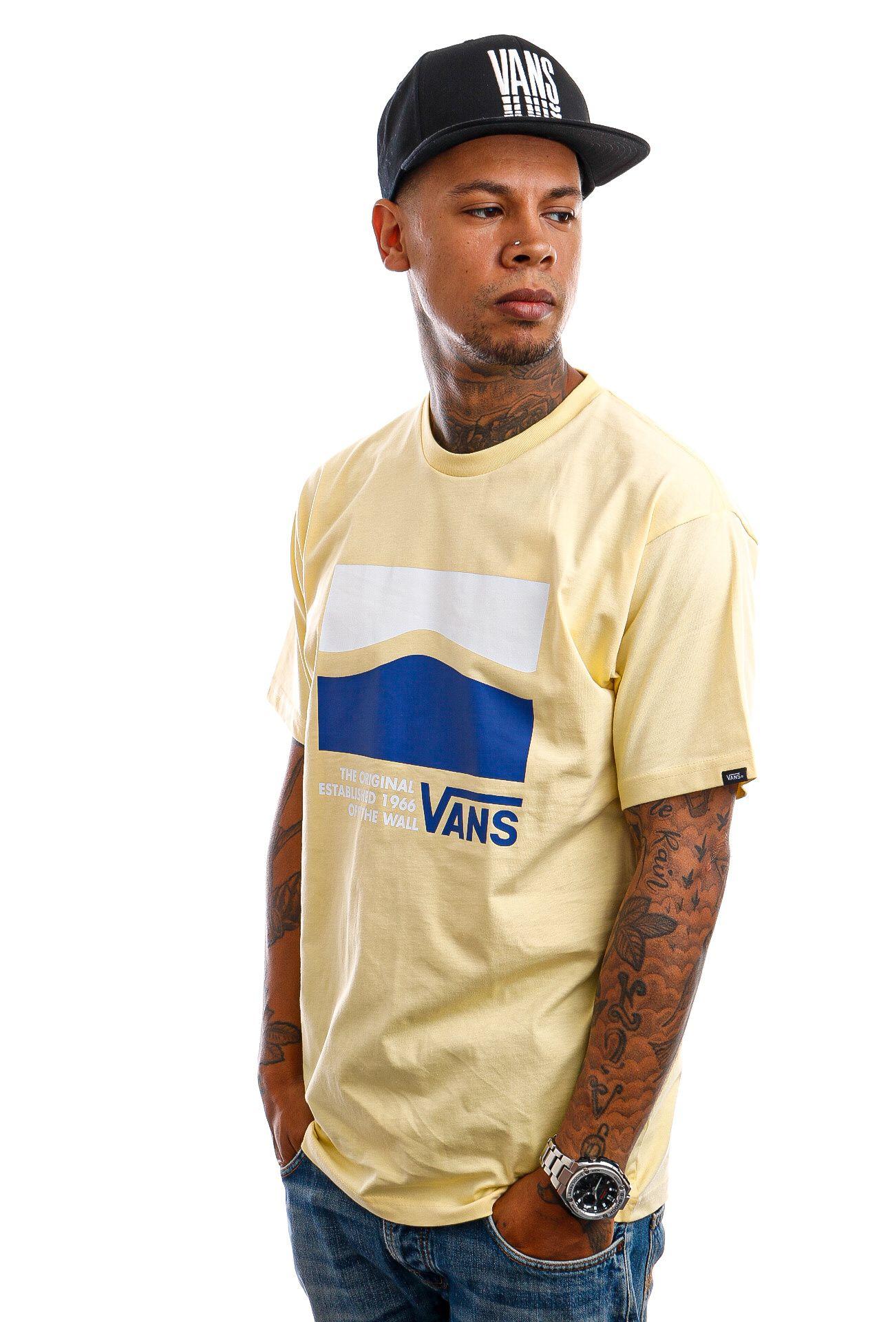 Afbeelding van Vans T-Shirt Original DNA Side Mellow Yellow VN0A5E7U0DO1