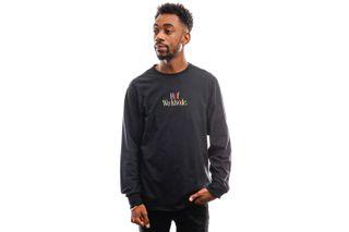 Foto van HUF Long Sleeve Woz Embroidery L/S Tee Black Ts01182-Black