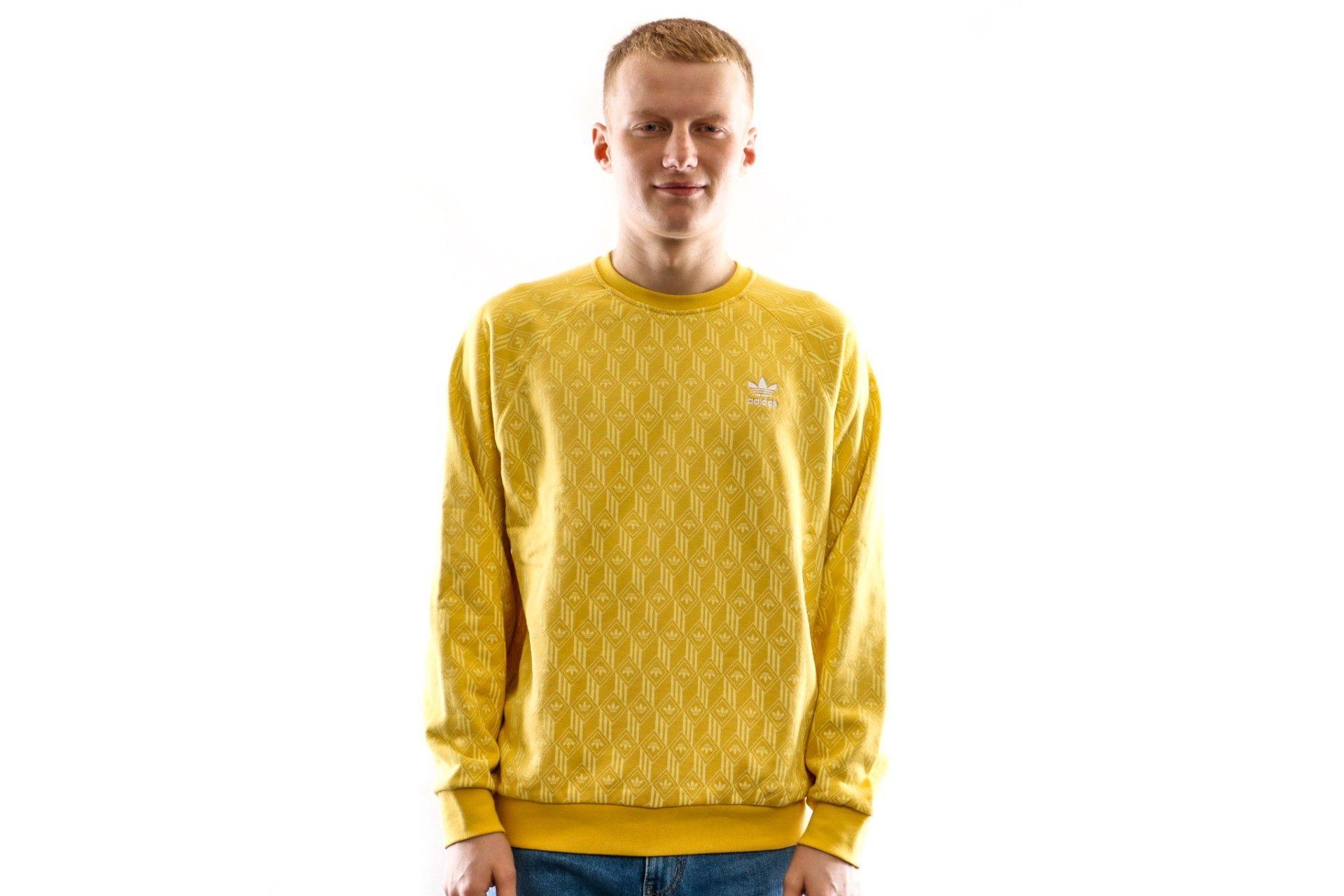 Afbeelding van Adidas Crewneck Mono Aop Crew Easy Yellow FM3427