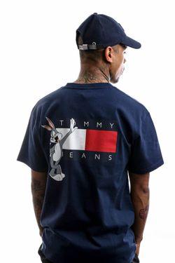 Afbeelding van Tommy Hilfiger T-shirt Tjm Looney Tunes Tee M1 Dark Ink DM0DM08580