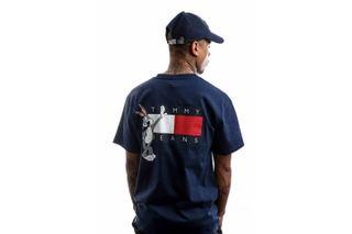 Foto van Tommy Hilfiger T-shirt Tjm Looney Tunes Tee M1 Dark Ink DM0DM08580
