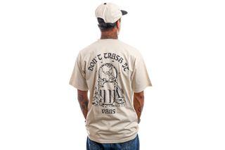 Foto van Vans T-Shirt MN VANS WORLD CODE SS Oatmeal VN0A5KCD2N11