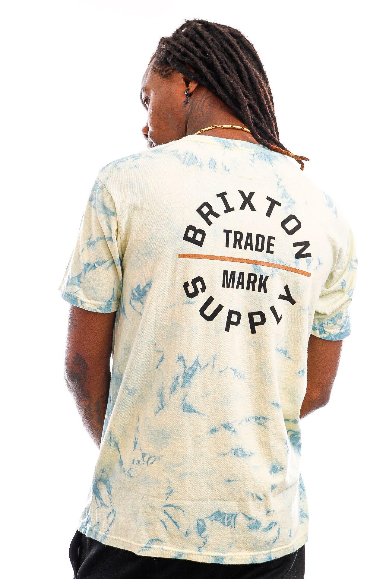 Afbeelding van Brixton T-shirt OATH V S/S STT Yellow Tie Dye 16410