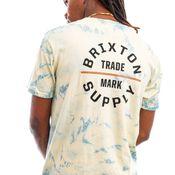Brixton T-shirt OATH V S/S STT Yellow Tie Dye 16410