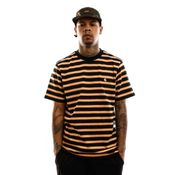 Carhartt T-shirt S/S Oakland T-Shirt Oakland Stripe, Dark Navy / Pop Orange I027731